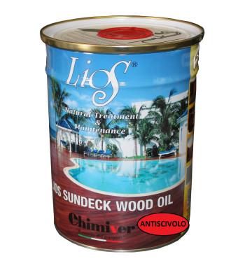 LIOS SUNDECK WOOD OIL NO SLIP 5 LT